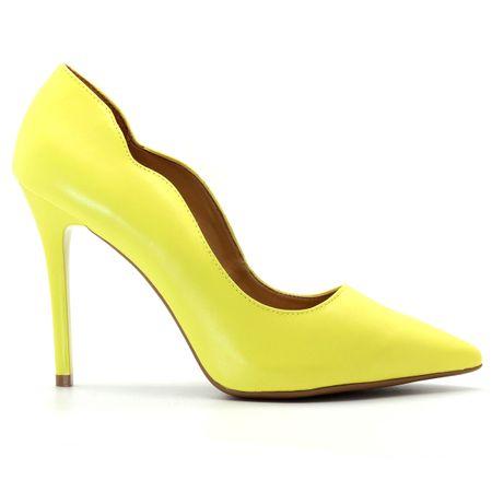 Scarpin-Royalz-Curvas-Liso-Salto-Alto-Fino-Amarelo
