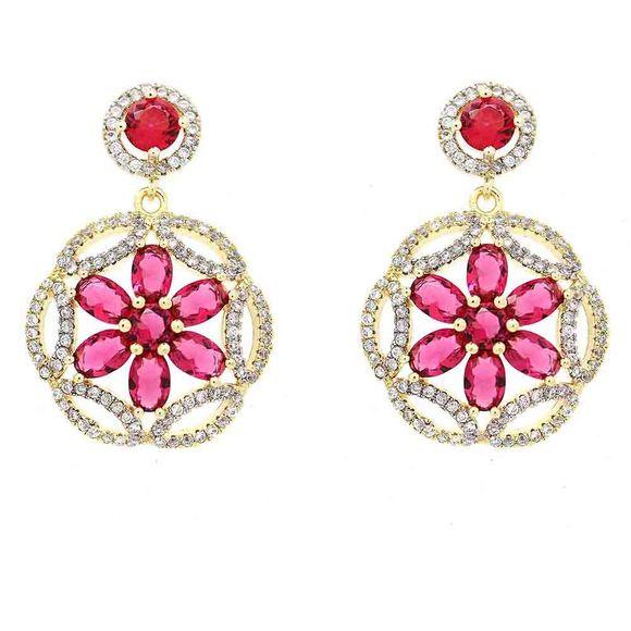 Brinco-Semi-Joia-Dourado-Zirconia-Rosa