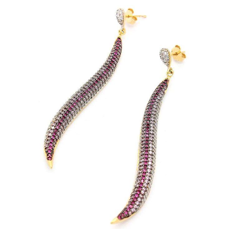 Brinco-Semi-Joia-Dourado-Zirconia-Rosa-Serpente