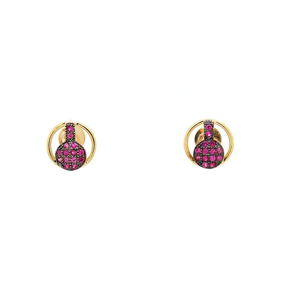Brinco-Semi-Joia-Dourado-Zirconia-Rosa-Banjo