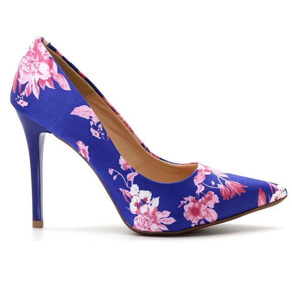 Scarpin-Royalz-Tecido-Floral-Salto-Alto-Fino-Cravo