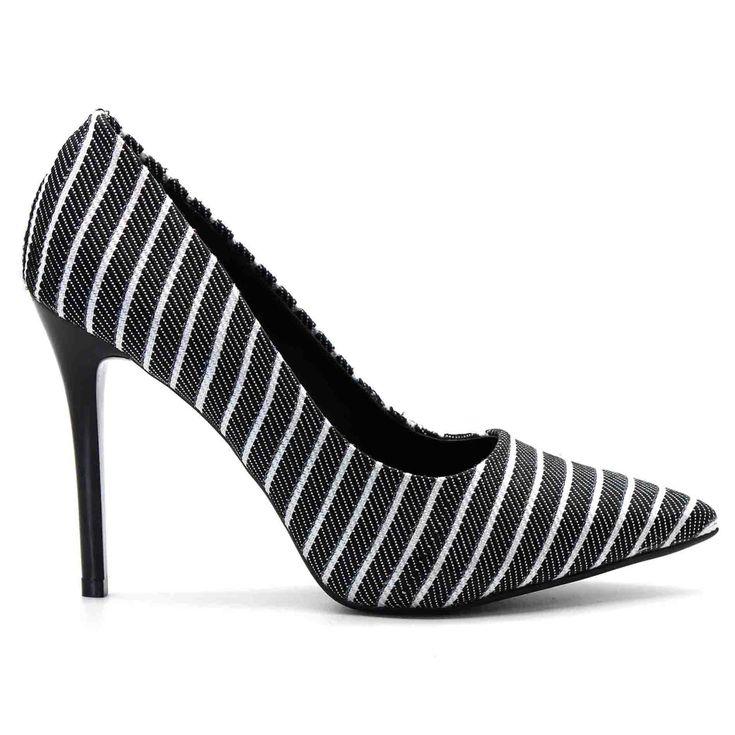 scarpin-royalz-tecido-salto-alto-fino-listras-preto-branco