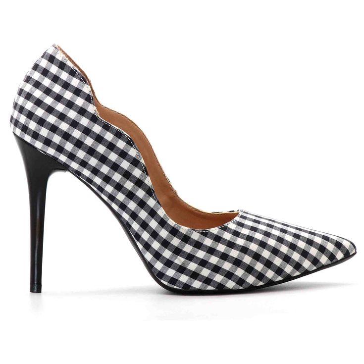 scarpin-royalz-curvas-tecido-salto-alto-fino-xadrez-preto