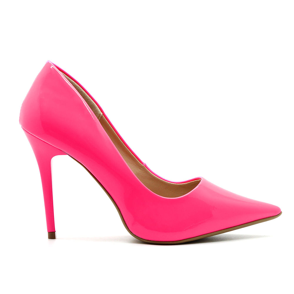 3c7bc460d7 Scarpin Royalz Verniz Neon Fluorescente Penélope Pink - Royalz - royalz