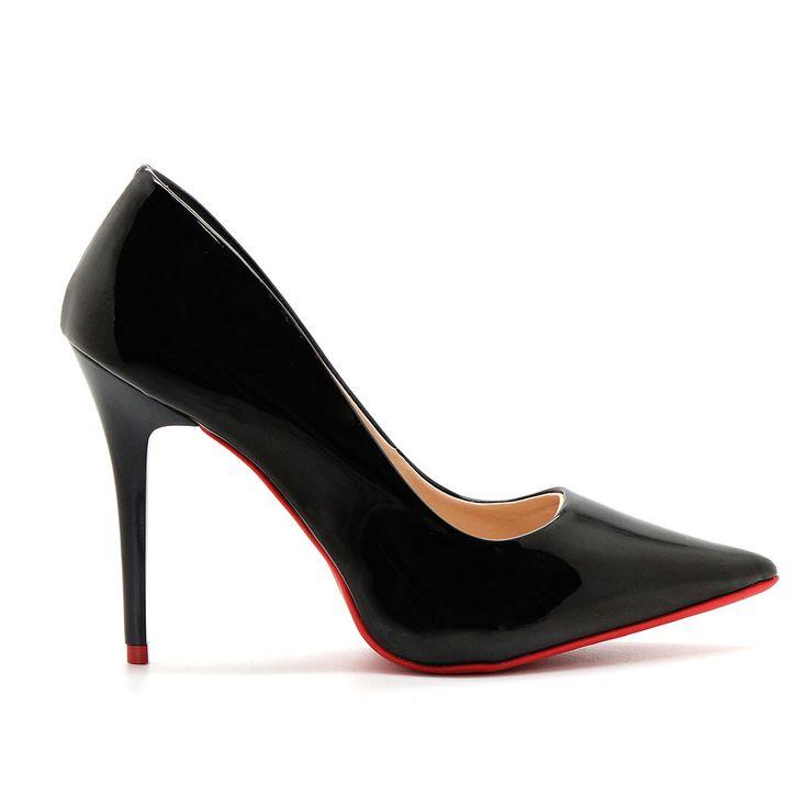 Scarpin-Royalz-Verniz-Sola-Vermelha-Salto-Fino-Penelope-Preto