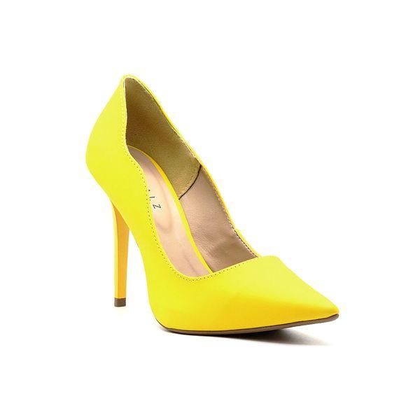 Scarpin-Royalz-Liso-Salto-Alto-Fino-Penelope-Curvas-Amarelo-Ipe