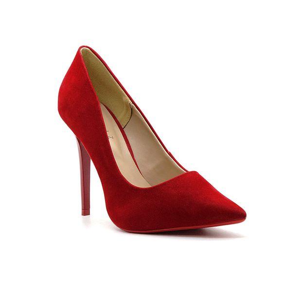 Scarpin-Royalz-Nobuck-Sola-Vermelha-Salto-Fino-Penelope-Vermelho