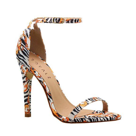 Sandalia-Royalz-Tecido-Paola-Zebra-Mix-Salto-Alto-Fino-Tira-Branca