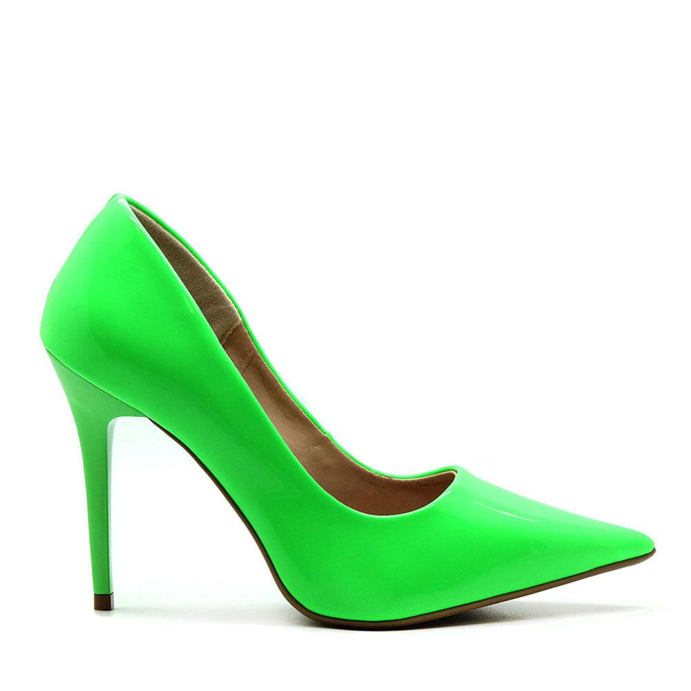 Scarpin Royalz Verniz Neon Fluorescente Penélope Verde