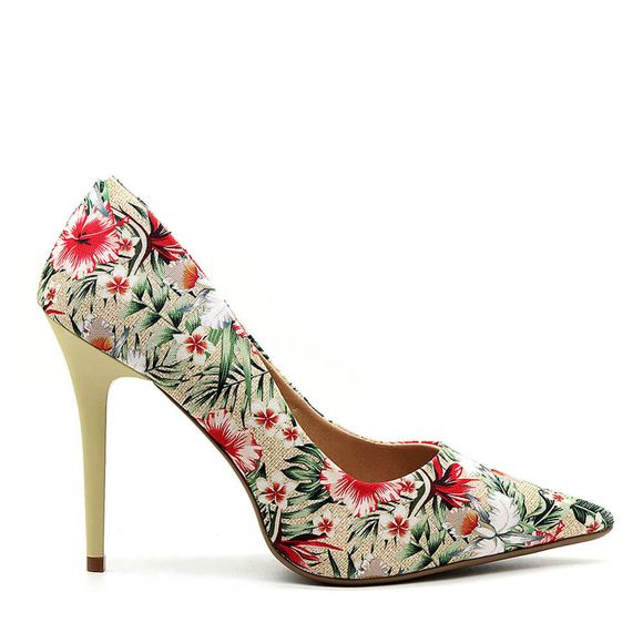 Scarpin-Royalz-Tecido-Salto-Alto-Fino-Penelope-Floral-Bahamas-Bege