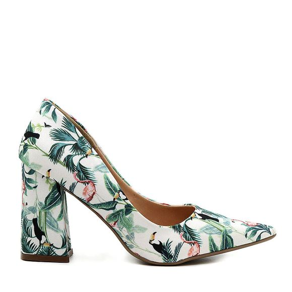 Scarpin-Royalz-Tecido-Salto-Grosso-Penelope-Floral-Flamingo-Branco