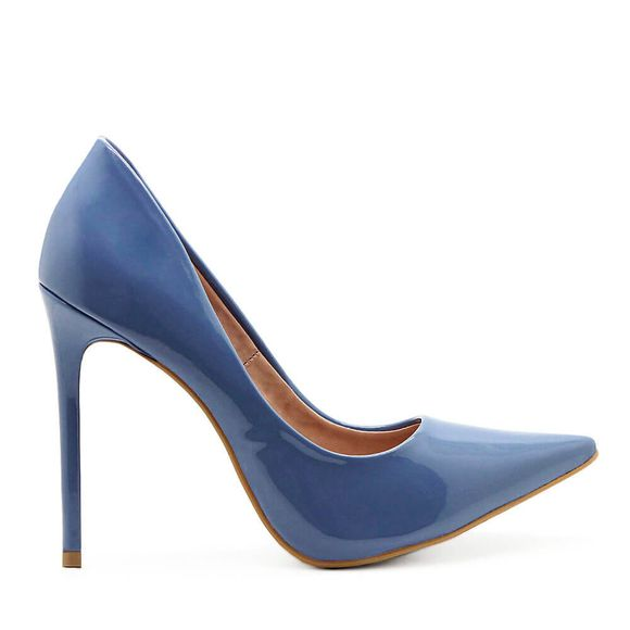 Scarpin-Royalz-Verniz-Salto-Alto-Fino-Celine-Azul-Jeans