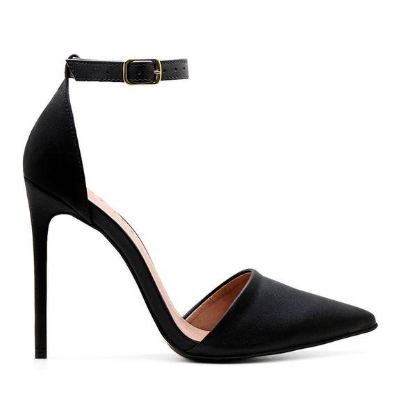 Scarpin-Royalz-Ankle-Strap-Liso-Salto-Alto-Fino-Lana-Preto